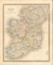 1843 ANTIQUE MAP- DOWER - IRELAND