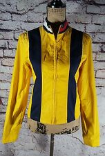 Vintage Tommy Hilfiger Yellow Full Zip Windbreaker Jacket Fits Size Small 2002