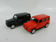 1:64 WELLY = Mercedes-Benz G Class Wagon *SET OF 2* RED & BLACK *DIECAST* NEW!
