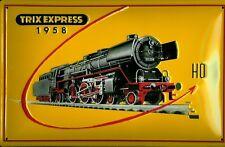 Trix Express 1958 HO Blechschild Schild 3D geprägt gewölbt Tin Sign 20 x 30 cm