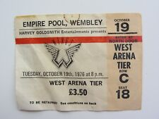 PAUL McCARTNEY  WINGS TICKET EMPIRE POOL, WEMBLEY, LONDON TUESDAY OCT 9TH 1976