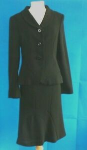 Hobbs Black Ladies Skirt and Jacket Suit Size10