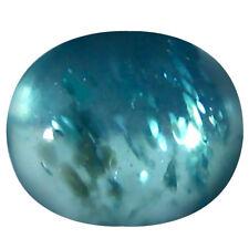 1.18 ct Oval Cabochon Shape (7 x 6 mm) Brazilian Paraiba Blue Apatite Gemstone