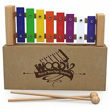 Wooden Xylophone For Kids: Best Perfectly Sized Musical Toy Toddlers - With Two