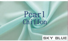 """(Sky Blue)Sheer Voile Chiffon Fabric Solid 100% Polyester 59""""Wide X By the Yard"""