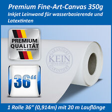 """Premium Inkjet Canvas/Leinwand, matt, Breite 36"""" (0,914 m) Lauflänge: 20 m, B1"""