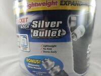 Silver Bullet Pocket Hose Expanding 50ft 3/4'' Hose with Bonus Spray Nozzle