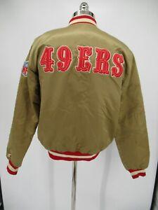 L8716 VTG Men's Starter NFL San Francisco 49ers Satin Bomber Jacket Size L