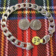 SILVER second hand flat curb bracelet