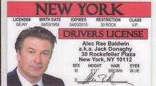 Alec Baldwin - famous President Donald Trump impersonator  card Drivers License