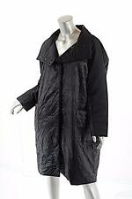 BITTE KAI RAND Black Full Button Up Puffer Coat w/Large Front Pockets Sz S $619
