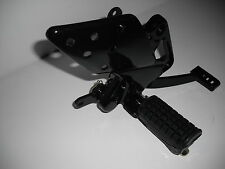 Xgjao SJ125-27 XTRS125 Black Right Footpeg Footrest Bracket Rear Brake Lever