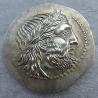 Ancient Greek King Philip II Rare Silver Token Tetradrachm Of Macedon 323 BC