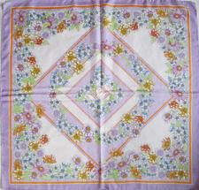 -Superbe Foulard  soie  TBEG vintage scarf 86 x 88 cm