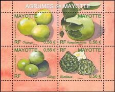 Mayotte 2009 Orange/Lemon/Grapefruit/Fruit/Trees/Plants/Nature 4v m/s (n38211k)