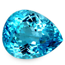 30.92 Cts Fabulous ! Natural Sky Blue Topaz REF VIDEO