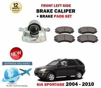 FOR KIA SPORTAGE 2.0 CRDI 2.7 2.0i 2004-2010 FRONT LEFT BRAKE CALIPER + PADS SET