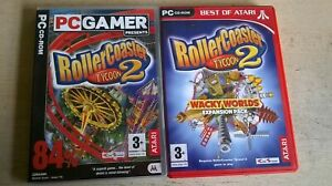 ROLLERCOASTER TYCOON 2 + WACKY WORLDS EXPANSION PACK - FAST POST - COMPLETE VGC