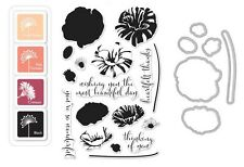 "Hero Arts ""POPPY"" Color Layer Clear Stamps + Frame Cuts Dies + Mini Ink Pad Set"