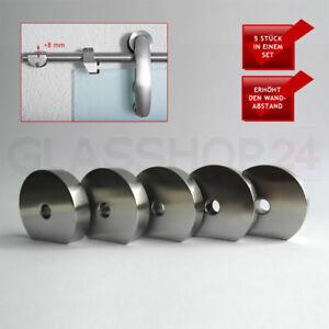 Edelstahl 8mm Abstandshalter Set für Glas Schiebetüren Glasschiebetüren