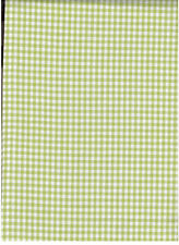 """POTTERY BARN KIDS GREEN GINGHAM CHECK PANEL UNLINED 100% COTTON 44'"""" X 84"""""""