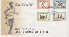 Tanzania-1988 Olympic Games Korea First Day Cover