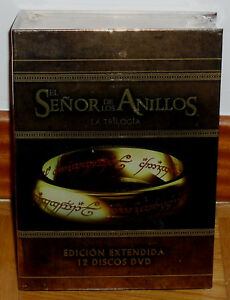 The Trilogy The Señor Of the Rings Extended Versions 12 DVD New Aventuras R2