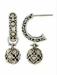 JOHN HARDY Sterling Silver 18K Gold Jaisalmer Two In One Dangle Earrings