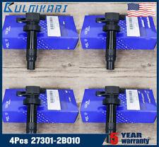 4 x  Quality Ignition Coil for Hyundai 2010 2011 K Soul 1.6L L4 27301-2B010