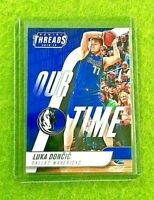LUKA DONCIC ROOKIE CARD JERSEY #77 MAVERICKS RC 2018-19 Panini THREADS  OUR TIME