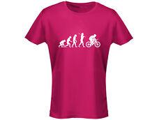 Fahrrad Evo Evolution Lustig Damen T-Shirt (12 Farben)