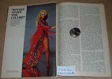 1973 TV ARTICLE~ANN MARGRET~SEXY ACTRESS - DANCER ~ TELEVISION SPECIAL
