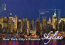 Gambia 2016 estampillada sin montar o nunca montada famoso horizonte de la ciudad de Nueva York NY2016 1v S/S rascacielos sellos