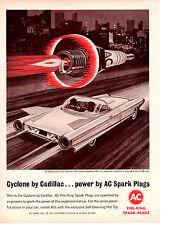 1964 CADILLAC CYCLONE EXPERIMENTAL CAR  ~ ORIGINAL AC SPARK PLUG AD