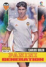 513 CARLOS SOLER ESPANA VALENCIA.CF PANINI GENERATION CARTA CARD MGK 2018 PANINI