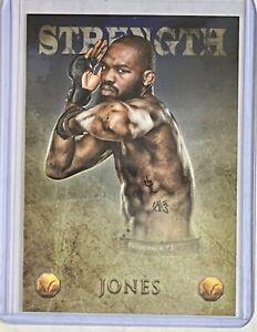 "2013 Topps Finest UFC Jon ""Bones"" Jones Strength Valor /188 Parallel RARE!"