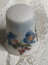 Thimble Bisque Hand Painted Blue Birds