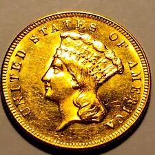 1874 $3.00 Indian Princess Gold Piece * Choice BU * Nice Mint luster