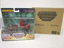 Masters of the Universe Minis KING HE-MAN & CLAWFU Figure Set SEALED 2013 Mattel