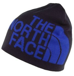 The North Face Navy Logo Banner Reversible Beanie Hat