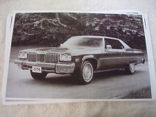1974 OLDSMOBILE 98 REGENCY COUPE    11 X 17  PHOTO   PICTURE
