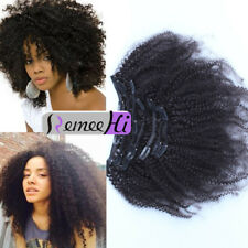 Virgin Afro Kinky Curly Clip In Real Human Hair Extension 10pcs/120g Very Thick