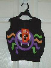 SPIDER COSTUME - BLACK MULTI - FANCY DRESS - BABY - 0-3mths - BNWT