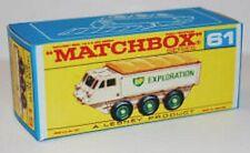 Matchbox Lesney No 61 Alvis Stalwalt  Empty Box Repro style F
