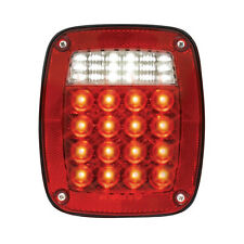 Jeep Style  LED Tail Light wLED License Light - (Curb Side)  SEMI TRUCK