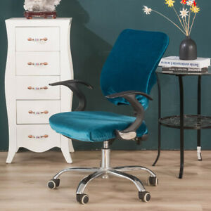 Split computer chair cover Universal shiny velvet backrest cushion protect cover