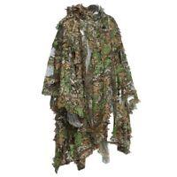Camo 3D Leaf cloak Yowie Ghillie Breathable Open Poncho Type Camouflage BirdA1X4