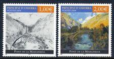 Andorra, French Administration Scott #589a-b VF MNH 2004 Margineda Bridge Single