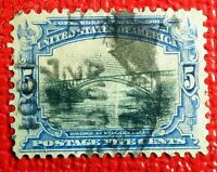 Very Nice 1901 Pan American Niagara Falls Bridge 5c Stamp Scott# 297 J147