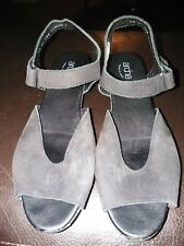 Arche women shoes sandals wedge black Nubuck 40 US9